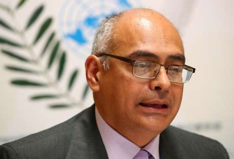 Ministro da Saúde da Venezuela, Carlos Alvarado, em Genebra 22/05/2019 REUTERS/Denis Balibouse