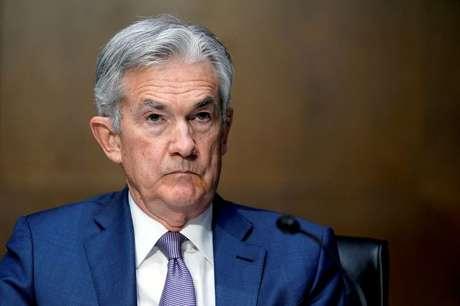 Presidente do banco central dos EUA, Jerome Powell, participa de audiência em comissão do Senado norte-americano 01/12/2020 Susan Walsh/Pool via REUTERS