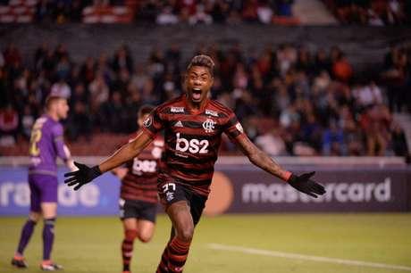 Bruno Henrique celebra gol contra LDU em 2019 (Foto: Alexandre Vidal/Flamengo)