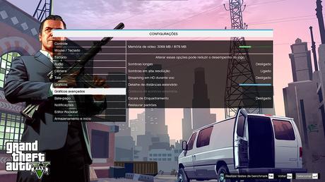Configurações adicionais em gráficos avançados