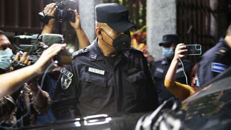 Policiais patrulharam as instalações da CSJ após a votação na Assembleia Legislativa