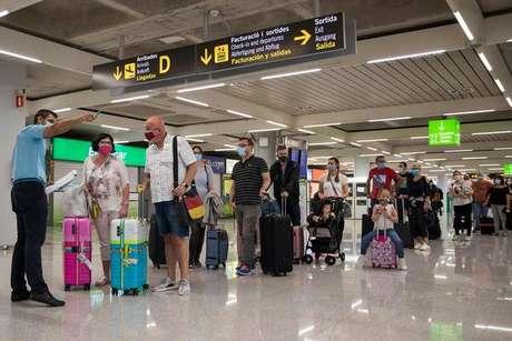 Movimentação no Aeroporto de Palma de Mallorca, na Espanha, em 22 de junho de 2020