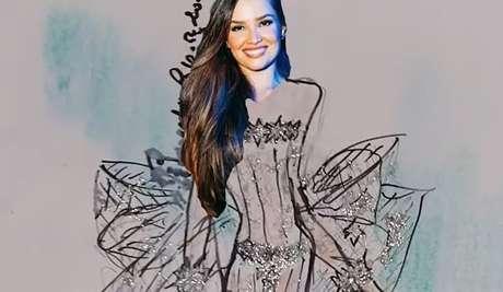 Um dos modelos idealizados por Ronaldo Esper para a futura noiva Juliette