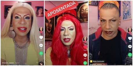 Marion Novick muda o visual a cada vídeo no TikTok por conta de seu acervo de perucas e figurinos