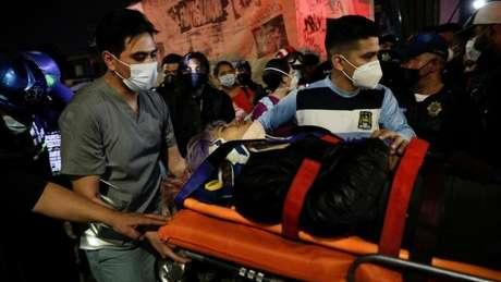 O acidente deixou dezenas de feridos