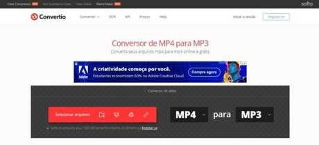 O Convertio te ajuda na conversão online de arquivos MP4 para o formato MP3