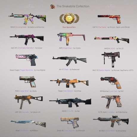 As skins de armas da Operação Stars, de CS:GO