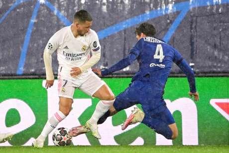 Chelsea e Real Madrid empataram em 1 a 1 (Foto: JAVIER SORIANO / AFP)