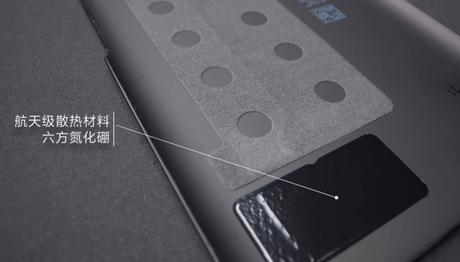 Camada para dissipar calor na tampa traseira do Redmi K40 Gaming Edition