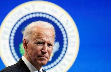Presidente Joe Biden discursa na Casa Branca, em Washington (EUA) 25/01/2021 REUTERS/Kevin Lamarque