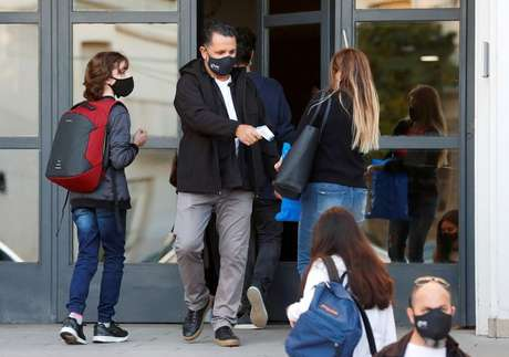Escola em Buenos Aires  19/4/2021   REUTERS/Agustin Marcarian