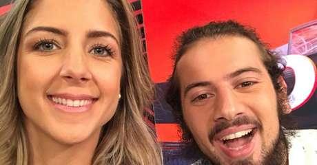 Domitila Becker apresentou programa com Cartolouco no SporTV (Foto: Reprodução/Twitter)