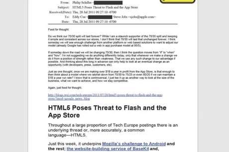 E-mail enviado a Steve Jobs por Phil Schiller
