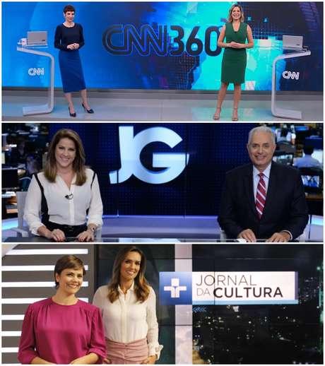Carlos Nascimento e Sandra Annenberg, Leilane Neubarth e Renato Machado: a harmonia inicial não resistiu