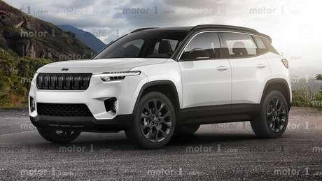 Projeção do SUV da Jeep feita pelo site Motor1.