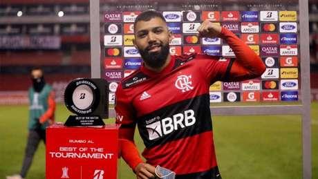 Gabigol foi eleito o melhor da partida (Foto: Staff Images / Conmebol)
