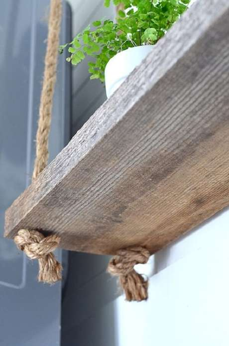 47. O nó da prateleira de corda deve ser firme para que sua estrutura não caia. Fonte: Pinterest