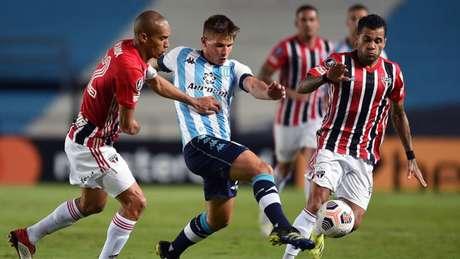 São Paulo e Racing empataram sem gols em Buenos Aires (Foto: Marcelo Endelli / POOL / AFP)