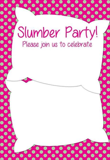 3. Ideias de convite para festa do pijama