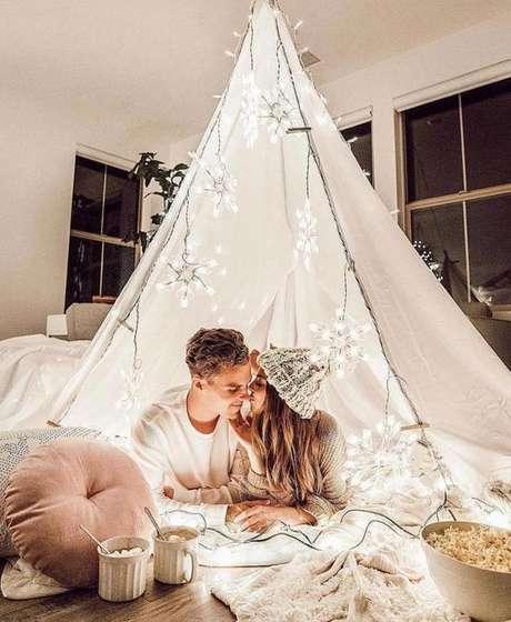 9. Cabana romântica em casa – Foto Ruffled Blog