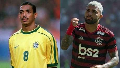 Vampeta polemizou ao não colocar Gabigol na lista de maiores do Flamengo (Montagem LANCE!)