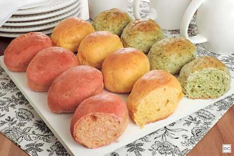 Guia da Cozinha - Receita de bisnaguinha colorida de legumes