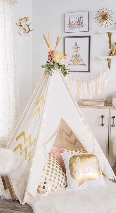2. Como fazer uma cabana em casa aconchegante – Foto Pinterest