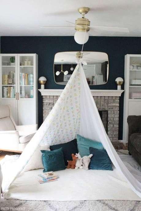 4. Cabana feita com corda no ventilador de teto – Foto Pretty Providence