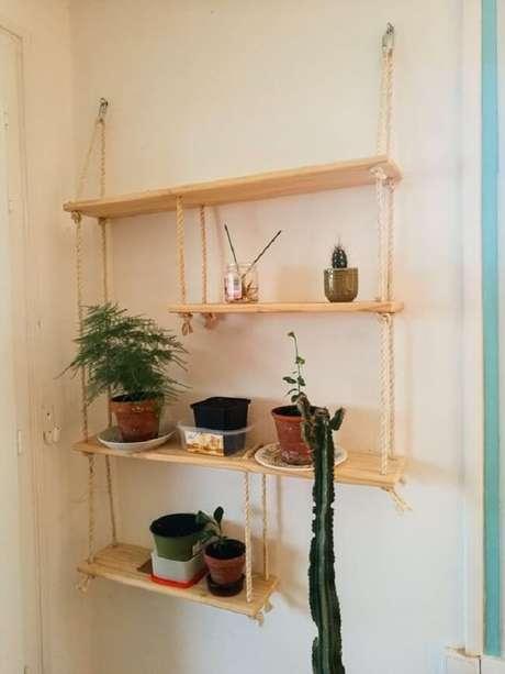 34. Modelo de prateleira de corda com diferentes recortes. Fonte: Pinterest
