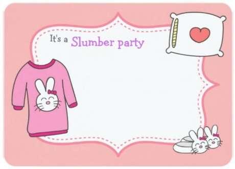 32. Modelo de convite para festa do pijama