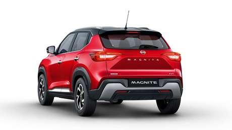 Nissan Magnite traz lanternas de led horizontais.