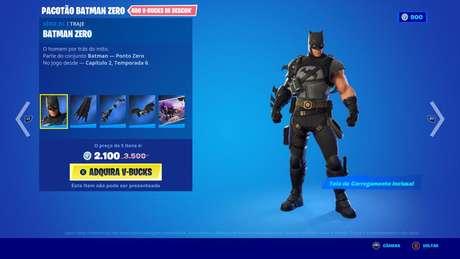 Batman na loja de Fortnite