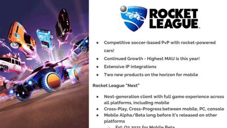 Rocket League mobile teria crossplay e eventos promocionais com outras marca