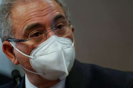 Ministro Queiroga em CPI do Senado  6/5/2021 REUTERS/Adriano Machado