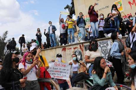 Protesto em Bogotá  6/5/2021   REUTERS/Luisa Gonzalez