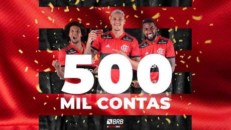Banco digital atingiu marca de 500 mil contas abetas (Foto: Divulgação/Flamengo)