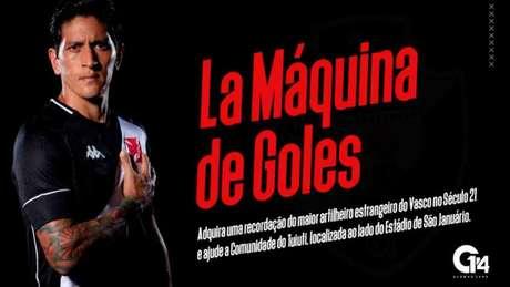 Cano é o maior artilheiro estrangeiro do Vasco no século XXI com 29 gols (Foto: anuncio/playforacause/gc14)