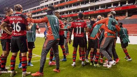 Flamengo venceu a LDU por 3 a 2, em Quito, a pouco mais de 2.700 metros de altitude (Foto: Alexandre Vidal / CRF)