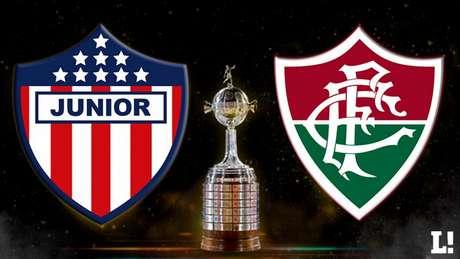 Junior Barranquilla e Fluminense se enfrentam nesta quinta-feira, pela Libertadores (Arte LANCE!)