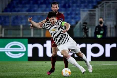 Zagueiro lamentou derrota para a Roma (Foto: FILIPPO MONTEFORTE / AFP)