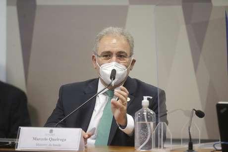 Marcelo Queiroga presta depoimento à CPI da Covid-19 no Senado