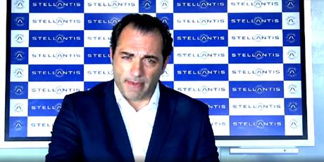 Antonio Filosa, presidente da Stellantis, na coletiva virtual.