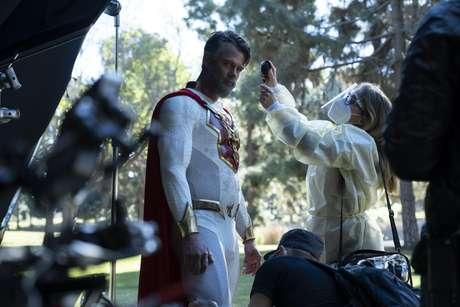 Josh Duhamel nos bastidores de 'O Legado de Júpiter'