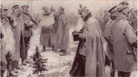 'Só no dia de Ano Novo, quando um tiro disparado pelos ingleses matou um sentinela nosso, é que essa trégua de Natal, que eu jamais esquecerei, chegou ao fim'