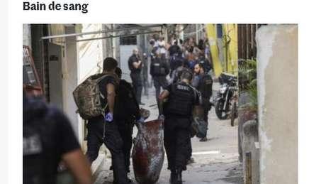 Reportagem do jornal francês Le Monde fala em 'banho de sangue'
