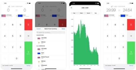 My Currency Converter é um app do iOS para conversão de moedas