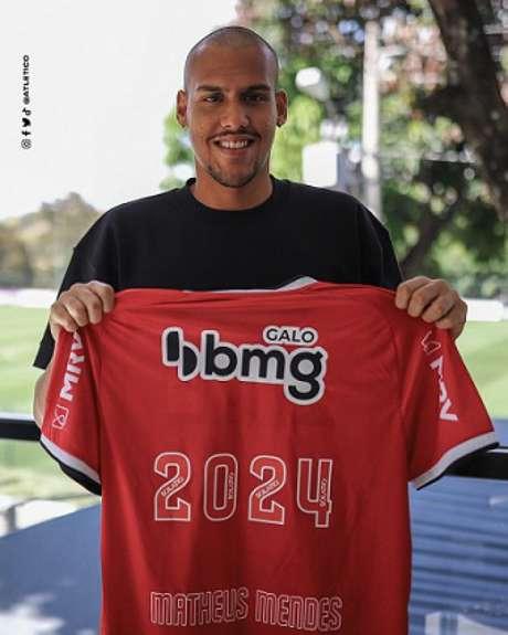 Matheus Mendes ficará no clube por mais tempo para mostrar o seu bom futebol-(Divulgação/Atlético-MG)