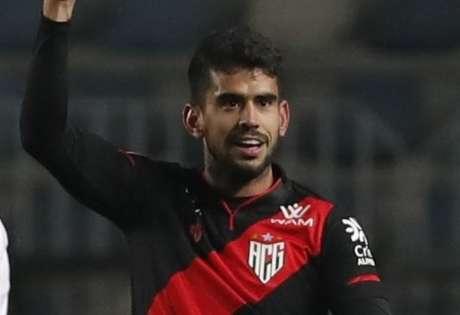 Atacante marcou o primeiro tento do Dragão no Paraguai (Divulgação/Atlético-GO)