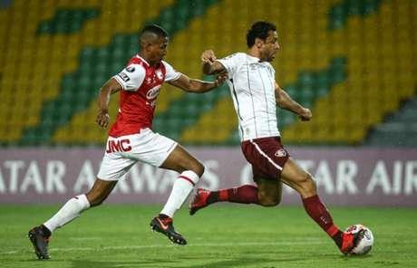 Fluminense venceu o Santa Fe na Colômbia e receberá equipe no Maracanã (Foto: Lucas Merçon / Fluminense FC)