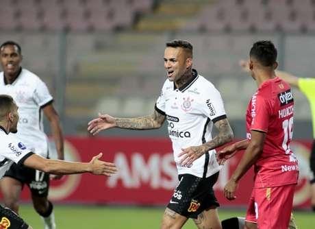 Contra o Huancayo, Luan fez dois gols em um jogo pela segunda vez pelo Timão (Foto: Rodrigo Coca/Ag. Corinthians)